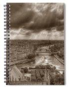 Seine From Notre Dame Spiral Notebook
