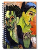 Self-portrait - Double Portrait Spiral Notebook