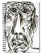 Self-portrait As An Old Man Spiral Notebook