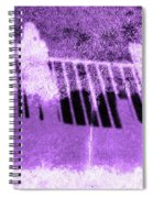 Self Portrait In Lavender Looking Down Over The Rails Spiral Notebook