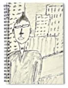 Self-portrait In Ny Spiral Notebook