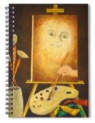 Self-portrait In Progress Spiral Notebook