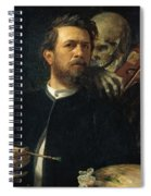 Self Portrait With Death Spiral Notebook