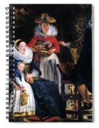Self-portrait With Family Spiral Notebook