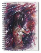 Self Portrait With Flowers Spiral Notebook