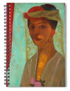 Self Portrait With Hat And Veil Spiral Notebook