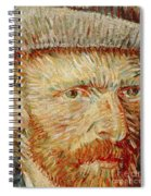 Self-portrait With Hat Spiral Notebook