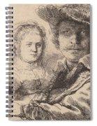 Self Portrait With Saskia Spiral Notebook