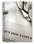 Seller Property Disclosure Spiral Notebook