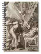 Semele Is Consumed By Jupiters Fire Spiral Notebook