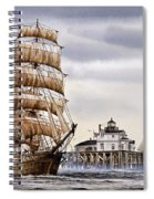 Semi-ah-moo Lighthouse Spiral Notebook