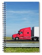 Semi Truck Moving On The Highway Spiral Notebook