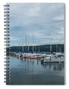 Seneca Lake Harbor - Watkins Glen - Wide Angle Spiral Notebook