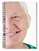 Senior Woman Portrait Smiling Spiral Notebook