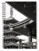 Senso-ji Temple In Tokyo  Spiral Notebook
