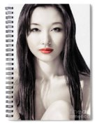 Sensual Artistic Beauty Portrait Of Young Asian Woman Face Spiral Notebook