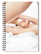 Sensual Closeup Of A Naked Woman Lying In Bed Spiral Notebook