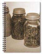 Sephia Vintage Kitchen Glass Jar Canning Spiral Notebook