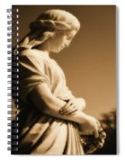 Sepia Angel Dream Spiral Notebook