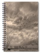 Sepia Angry Skies Spiral Notebook