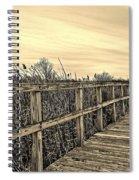Sepia Boardwalk Spiral Notebook