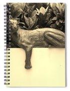 Sepia Cat Spiral Notebook