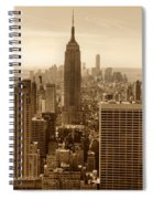 Sepia Empire State Building New York City Spiral Notebook