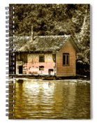Sepia Floating House Spiral Notebook