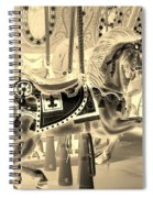 Sepia Horse Spiral Notebook