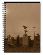 Sepia Morning Fog Spiral Notebook