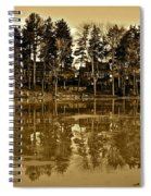 Sepia Reflection Spiral Notebook