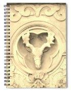 Sepia Reindeer Spiral Notebook
