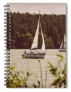 Sepia Sailing Spiral Notebook