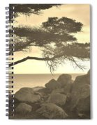 Sepia Seaview Spiral Notebook
