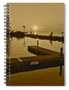 Sepia Sunset Spiral Notebook