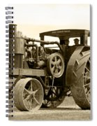 Sepia Tractor Spiral Notebook