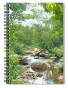 September Arrives At The Unami Creek Spiral Notebook