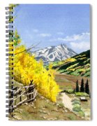 September Gold Spiral Notebook