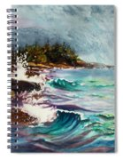 September Storm Lake Superior Spiral Notebook
