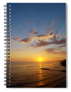 September Sunday Sunset  Spiral Notebook