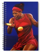 Serena Williams Painting Spiral Notebook