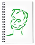 Serene Face Spiral Notebook
