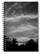 Serenity - Bw Spiral Notebook