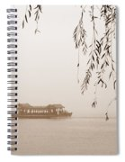 Serenity In Sepia Spiral Notebook