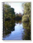 Serenity Pond Reflection At Limehouse Ontario Spiral Notebook