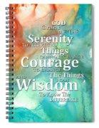 Serenity Prayer 1 - By Sharon Cummings Spiral Notebook