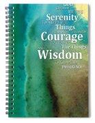 Serenity Prayer 2 - By Sharon Cummings Spiral Notebook