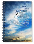 Serenity Prayer 3 - By Sharon Cummings Spiral Notebook