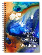 Serenity Prayer 4 - By Sharon Cummings Spiral Notebook