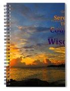 Serenity Prayer Sunset By Sharon Cummings Spiral Notebook